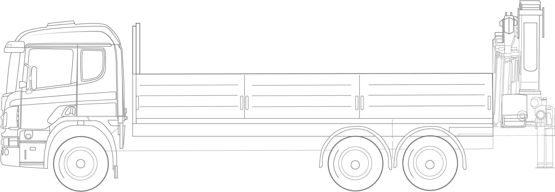samochód ciężarowy + hds