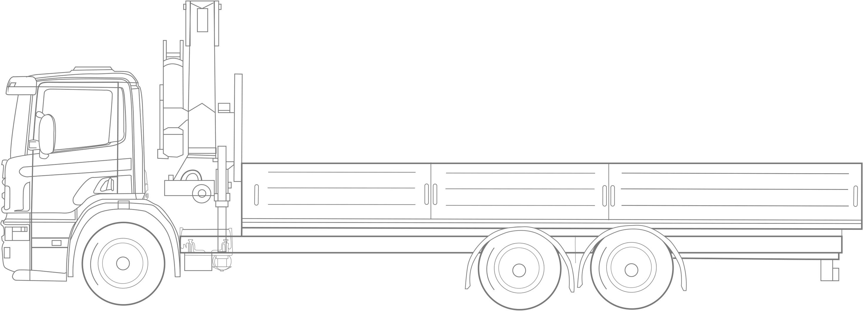 samochód ciężarowy + hds za kabiną
